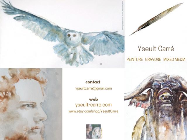 Flyer Yseult Carré peintre – 1