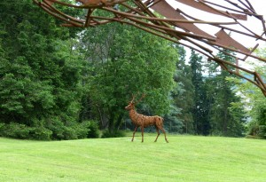 Alerte (détail) et Le Cerf - sculptures de Christian Hirlay - crédit photo Yseult Carré