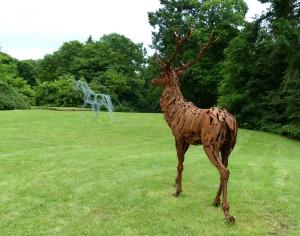 La Licorne et Le Cerf - sculptures de Christian Hirlay - crédit photo Yseult Carré