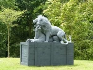 Les Lions - sculpture d'Aurélien Raynaud- crédit photo Yseult Carré