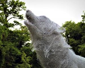 Le Loup (détail) - sculpture d'Aurelien Raynaud - crédit photo Yseult Carré