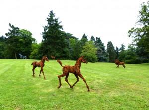 Les Poulains, Le Lion, Le Cerf et La Licorne - sculptures de Christian Hirlay  - crédit photo Yseult Carré