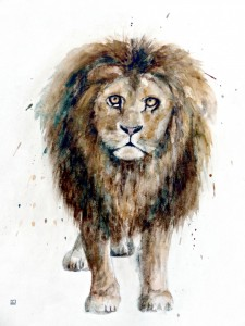 lion-de-jean-philippe-varin-jacana-en-sologne-aquarelle-pigments-naturels-copyright-yseult-carre