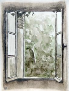 Le Molinié, fenêtre de ma chambre - Thédirac - Quercy