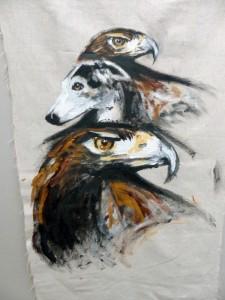 Olmeda, galga et aigle royal © Yseult Carré